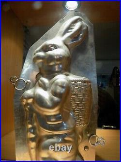 Big Bunny Chocolate Mold Molds Vintage Antique N/3207