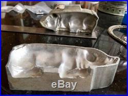 Big fat Belgian antique chocolate mold pig