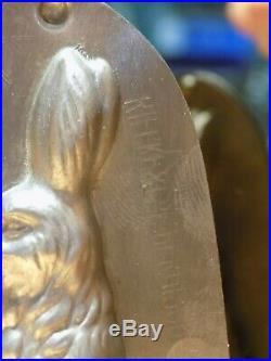 Bunny Chocolate Mold Mould Schokoladenform Molds Vintage Antique