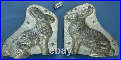 Bunny Rabbit Chocolate Double Mold withClip, Antique Ca 1890-1920s