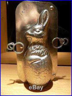 Bunny Rabbit In An Egg Chocolate Mold Molds Vintage Antique N/15572