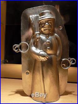 Chocolate Mold Snowman Antique Mould Vintage Mould