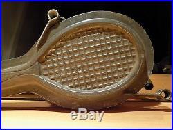 CHOCOLATE Racket of tennis ANTON REICHE MOLD MOULD VINTAGE ANTIQUE