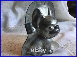 Chocolate Anton Reiche French Bulldog Dog Mold Mould Vintage Antique