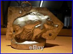 Chocolate Boar Sommet Mold Mould Vintage Antique