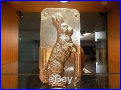 Chocolate Bunny Mold Mould Schokoladenform Vintage Antique N/5117