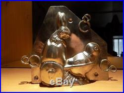 Chocolate Chick With Car Bunny Vintage Antique Mold Mould