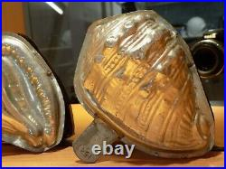 Chocolate Letang&fils Oyster Shell Mold Mould Vintage Antique Huitre