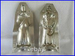 Chocolate Mold/107 Father Christmas in Long Robe, Bag of Toys Antique Vintage
