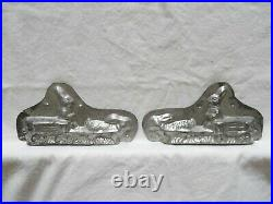 Chocolate Mold 208/ Rabbit Pulling Wagon Collectible Antique Vintage