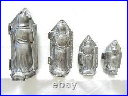 Chocolate Mold/216 French Father Christmas Set of 4 Molds Antique Vintage