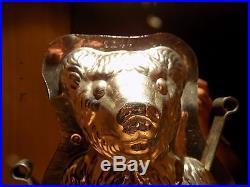 Chocolate Mold Big Bear Rare! Schokoladenform Molds Vintage Antique