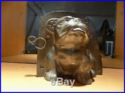 Chocolate Mold Dog Buldog Vintage Antique