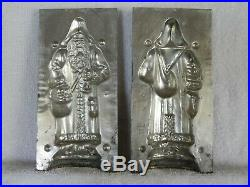 Chocolate Mold Father Christmas, Bag Over Shoulder Collectible Antique Vintage
