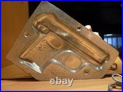 Chocolate Mold Gun Revolver Molds Mould Vintage Antique Fusil