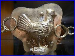 Chocolate Mold Mould Rooster Vintage Antique