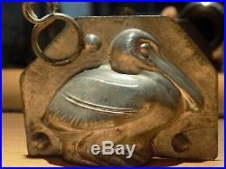 Chocolate Mold Pelican Vintage Antiqued