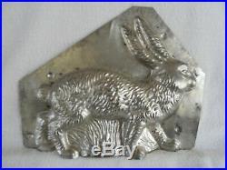 Chocolate Mold Rabbit Walking Collectible Antique Vintage