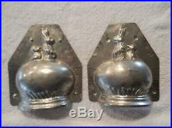 Chocolate Mold Rabbit and Chick Hatching From Egg Collectible Antique Vintage