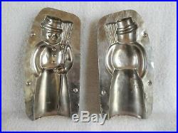 Chocolate Mold Snowman With Broom Collectible Antique Vintage