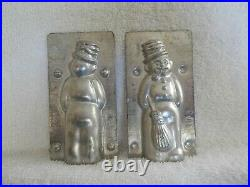 Chocolate Mold Snowman, withBroom, Smoking a Pipe Collectible Antique Vintage