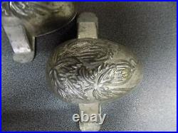 Chocolate Oeuf Egg Mold Mould Vintage Antique 2 Side