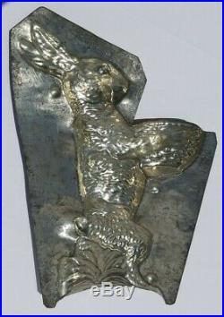 Chocolate metal Easter mold vintage antique 6629 Basket standing bunny basket G