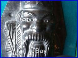Chocolate mold antique mold Santa Christmas VERY RARE
