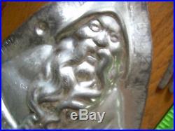 Chocolate mold antique mold candy mold Santa Christmas
