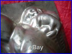 Chocolate mold candy mold antique mold Christmas Santa RARE! HUGE
