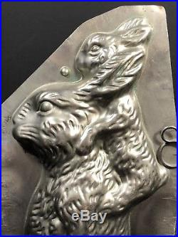 Collectible Antique Vintage Chocolate Mold Bunny WithCain & Baby Bunny On Back 224