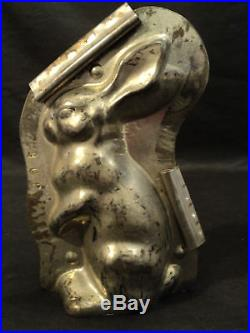 Cute Antique Sitting Rabbit Chocolate Mould, #3062