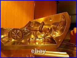 Donkey Pulling Cart Chocolate Mold Mould Molds Vintage Antique