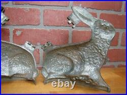 E&Co NY Antique Easter Bunny Rabbit Banquet Ice Cream Chocolate Mold 3 Pc Body