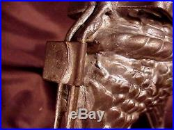 Elaborate Antique Metal Chocolate Mold, Chicken Motif, Probably German