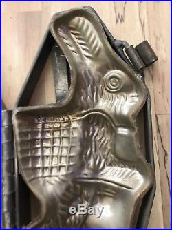 Estate Found Antique Vintage Large Chocolate Rabbit Mold In Nice Condition