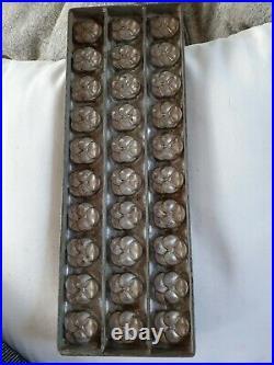 FLAT CHOCOLATE MONOS MOLD MOULD MOLDS VINTAGE ANTIQUE N/89 pansies flower