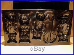 Flat Chocolate Bear, Dog Mold Mould Schokoladenformen Molds Vintage Antique