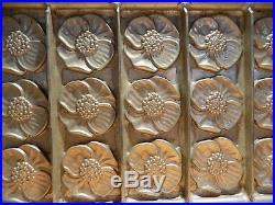 Flat Chocolate Mold Mould Flower Molds Vintage Antique