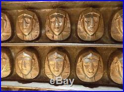 Flat Chocolate Mold Mould Hans Bruhn&co Hamburg Mold Vintage Antique Pharaon