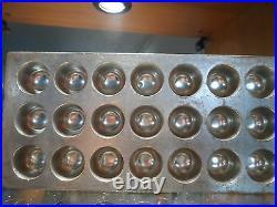 Flat Chocolate Mold Mould Molds Vintage Antique