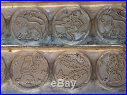 Flat Chocolate Mold Mould Molds Vintage Antique Horoscope
