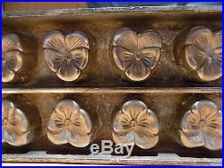 Flat Chocolate Mold Mould Schokoladenformen Molds Vintage Antique