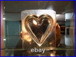 Flat Heart Chocolate Mold Molds Vintage Antique N/3400