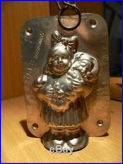Girl + Baby Chocolate Mold Mould Molds Vintage Antique N/2176