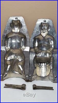 H. Fohn Wien #11 devil Krampus chocolate mould antique authentic