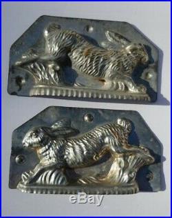 H. Walter Berlin Germany antique Metal chocolate mold easter bunny vintage lotL