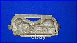 H Walter Berlin early 20th Century German Chocolate Mold- Chick & Basket, Egg