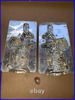 Huge EX COND ANTIQUE EPPELSHEIMER 8167 11 RABBIT CARRYING BASKET CHOCOLATE MOLD