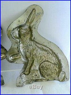 Huge Reiche 6202 Antique 12 Sitting Rabbit Bunny Basket Chocolate Mold